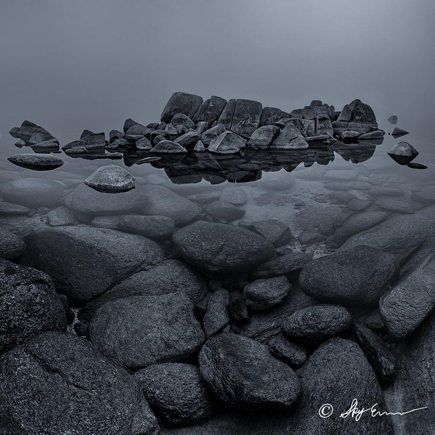 Lake Tahoe Black and White Print
